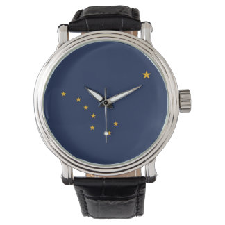 Patriotic, special watch with Flag of Alaska, USA