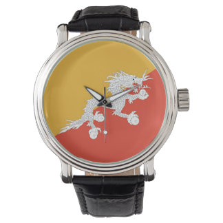 Patriotic, special watch with Flag of Bhutan