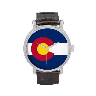Patriotic, special watch with Flag of Colorado