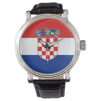 Patriotic, special watch with Flag of Croatia