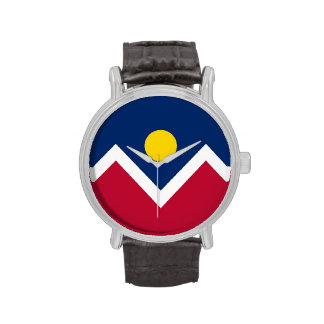 Patriotic, special watch with Flag of Denver City