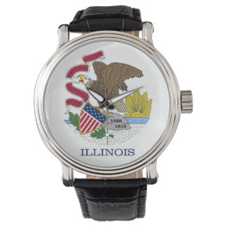 Patriotic, special watch with Flag of Illinois