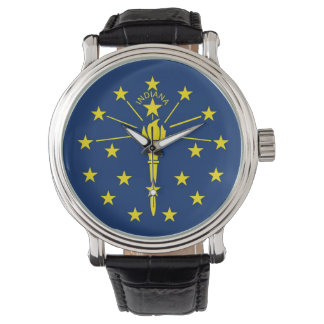 Patriotic, special watch with Flag of Indiana