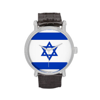 Patriotic, special watch with Flag of Israel