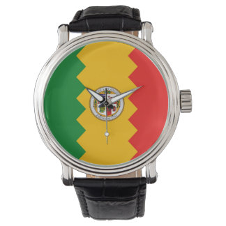 Patriotic, special watch with Flag of Los Angeles