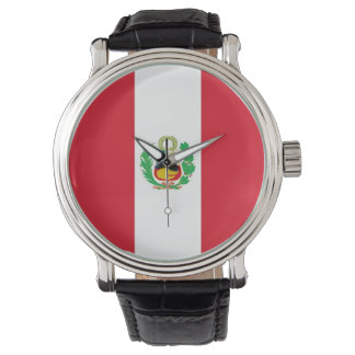 Patriotic, special watch with Flag of Peru