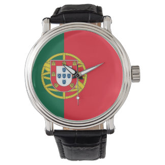 Patriotic, special watch with Flag of Portugal
