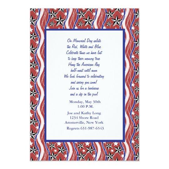 Patriotic Spirit Invitation