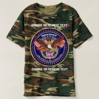 Patriotic Spirit Men's Camouflage view notes below T-shirt