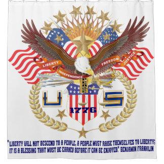 Patriotic Spirit Shower Curtain Peace