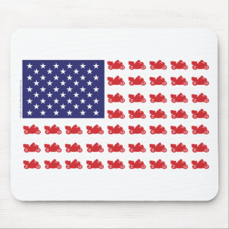 Patriotic Sport Cruiser Motorcycle Mouse Pad