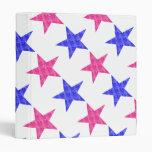 Patriotic Stamped Stars Vinyl Binder