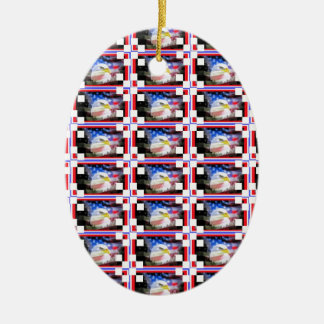 Patriotic Stamps. Ceramic Ornament