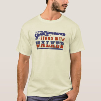 Patriotic  Stand With Scott Walker T-Shirt