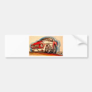 patriotic 'stang bumper sticker