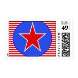 patriotic star 2 stamp