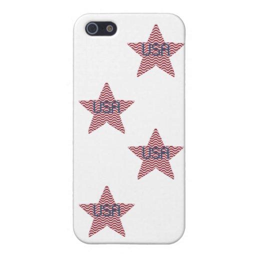 Patriotic Star Cases For iPhone 5