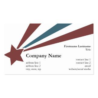 Patriotic Star (Horizontal) - Vintage Business Card