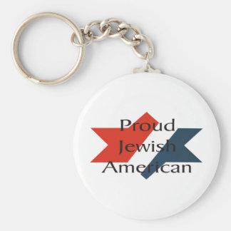 Patriotic Star Key Chain