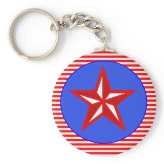 patriotic star keychains