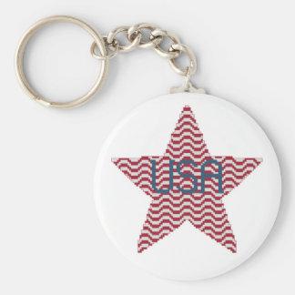Patriotic Star Keychain