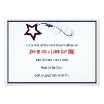 Patriotic Star Light Laber Day Party Invitation