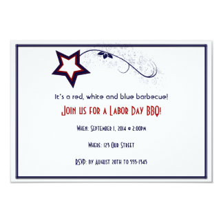 Patriotic Star Light Laber Day Party Invitation