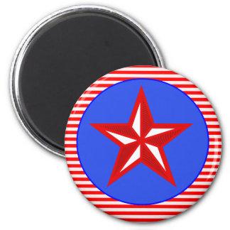 patriotic star refrigerator magnet