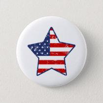 Patriotic Star Pinback Button