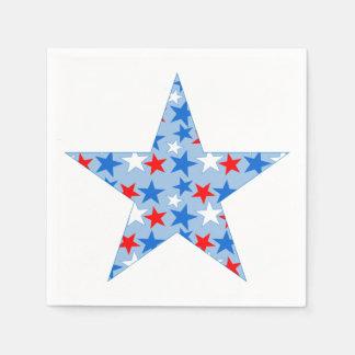 Patriotic Star Standard Cocktail Napkin