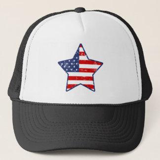 Patriotic Star Trucker Hat