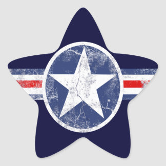 Patriotic Star Vintage Stripes Stickers
