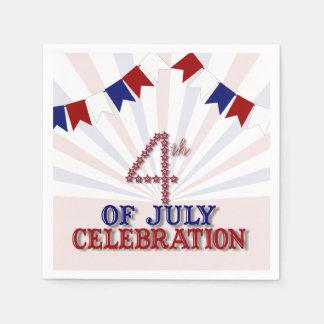 Patriotic Stars 4th of July Paper Napkins