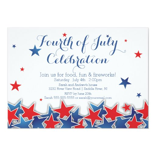 July 4Th Invitations with adorable invitation layout