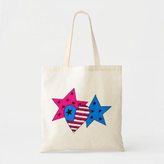Patriotic Stars and Heart Bag