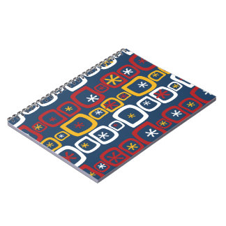 Patriotic Stars and Squares Notebook