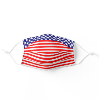 Patriotic Stars and Stripes Adult Cloth Face Mask