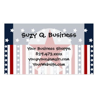Patriotic Stars and Stripes American Flag Design Business Card Templates
