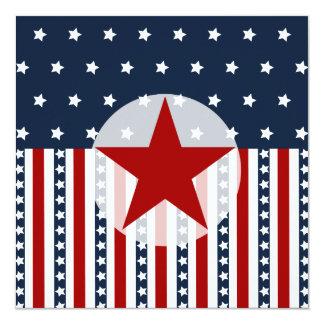 Patriotic Stars and Stripes American Flag Design Card