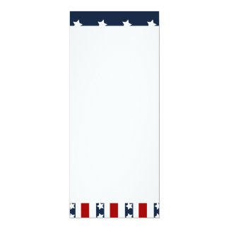Patriotic Stars and Stripes American Flag Design Card