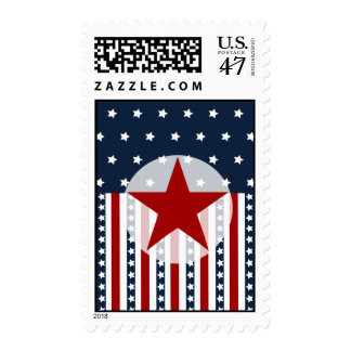 Patriotic Stars and Stripes American Flag Design Postage