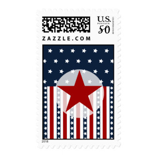 Patriotic Stars and Stripes American Flag Design Postage