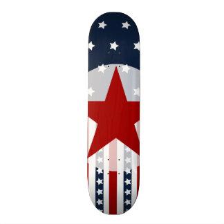 Patriotic Stars and Stripes American Flag Design Skateboard Deck