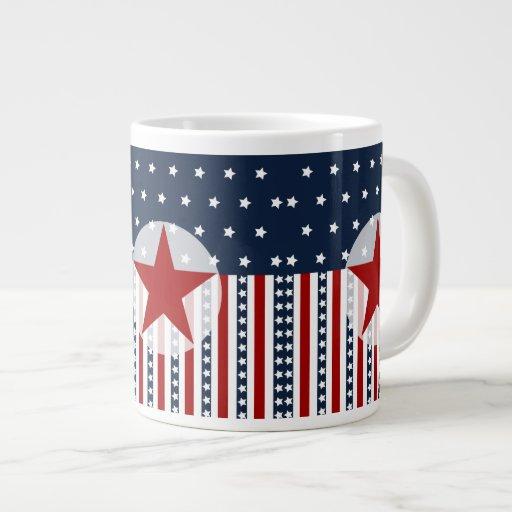 Patriotic Stars and Stripes American Flag Design Jumbo Mug