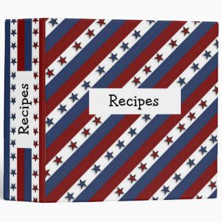 Patriotic Stars and Stripes Vinyl Binders
