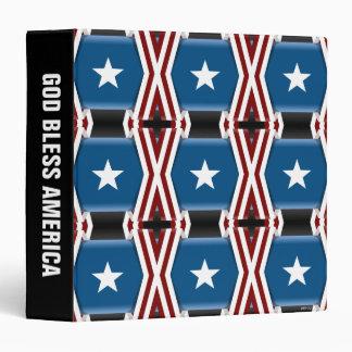 Patriotic Stars And Stripes Binder