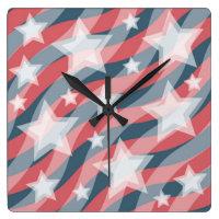 Patriotic stars and stripes clock