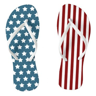 reflections06 Patriotic Stars and Stripes Flip Flops