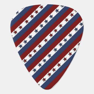Patriotic Stars and Stripes Guitar Pick