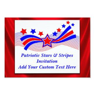 Patriotic Stars And Stripes Invitation